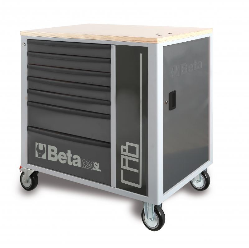 beta c24sl cab gereedschapswagen 7 laden werkbank kast grijs toolsxl online gereedschap. Black Bedroom Furniture Sets. Home Design Ideas