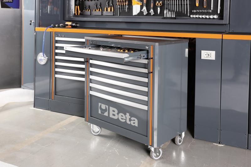 Beta 055000025 werkplaats inrichting c55b pro c55c7 for Ladenblok gereedschap