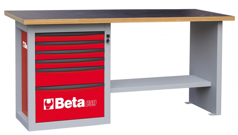 Beta c59 a werkbank 059000041 met ladenblok endurance for Werkbank ladeblok