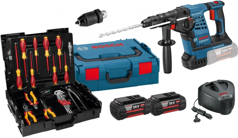 bosch gbh 36 vf li plus professional accu combihamer 36 volt wiha set toolsxl makita dewalt bos. Black Bedroom Furniture Sets. Home Design Ideas