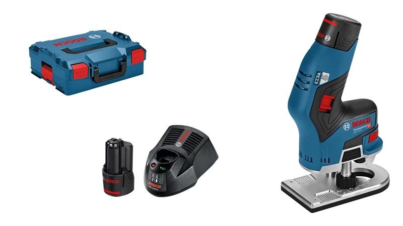 Extreem Bosch GKF 12V-8 Accu Kantenfrees   12 Volt 3.0 Ah Li-Ion   6-8 mm MV62