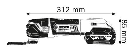bosch gop 18 v 28 accu multitool 18 v 5 0 ah. Black Bedroom Furniture Sets. Home Design Ideas