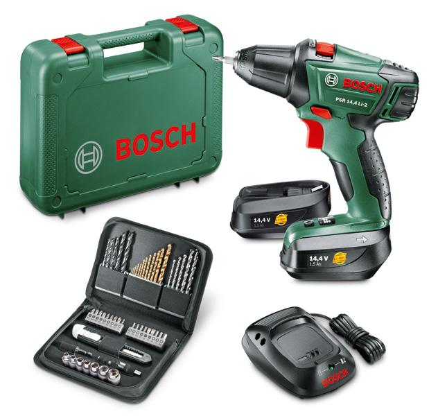 Bosch 0.603.973.407 boormachine | 14,4 Volt 1.3 Ah Li-ion | +51 Delige set | ToolsXL Makita Dewalt B