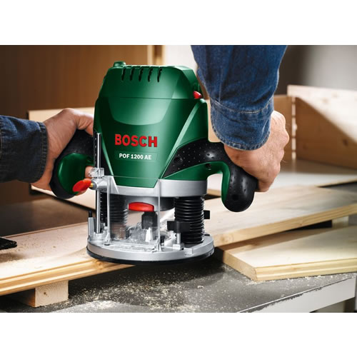bosch pof 1200 ae bovenfrees 8 mm 1200 watt electronic toolsxl online gereedschap shop. Black Bedroom Furniture Sets. Home Design Ideas