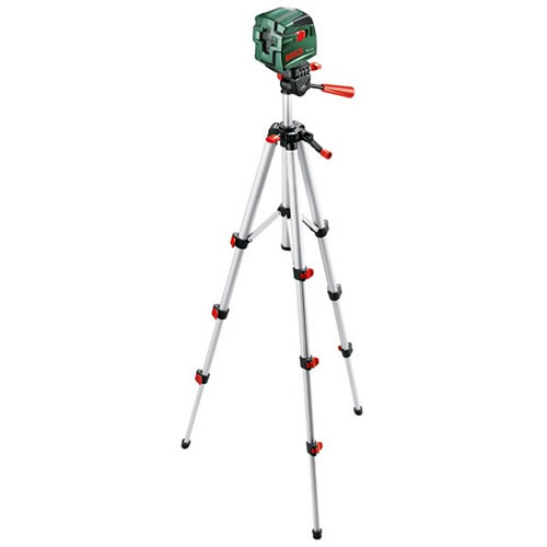 Bosch pcl1 kruislijnlaser met statief batterij 1 5 v aa for Niveau laser pcl 10