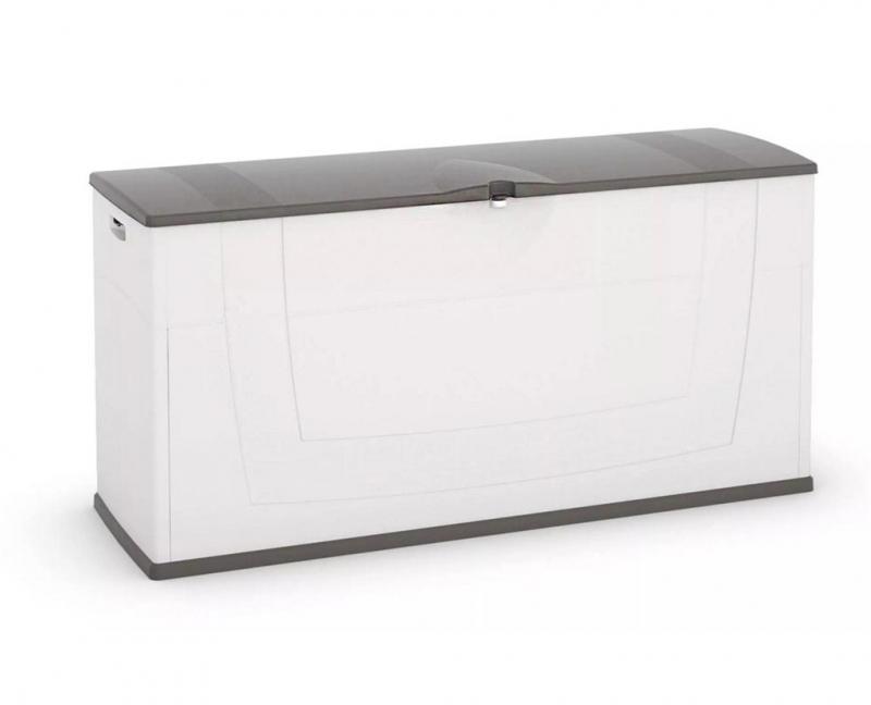 Opbergbox Voor Tuingereedschap.Kis 4624000 0447 Opbergbox Kunststof 1190 X 400 X 580 Mm 200 L Grijs Wit
