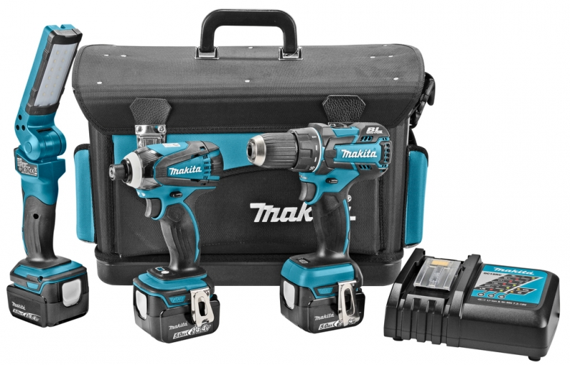 makita dlx3025tx combiset 14 4 volt accuboor slagschroevendraaier lamp toolsxl online. Black Bedroom Furniture Sets. Home Design Ideas