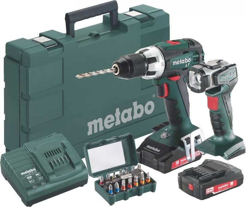 metabo bs 18 lt set accuboormachine 18v 2 0ah li ion koffer lamp en bitset toolsxl makita de. Black Bedroom Furniture Sets. Home Design Ideas
