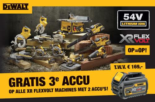 Gratis Flexvolt Accu