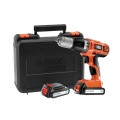 Black & Decker ASL188KB Accuboor | Li-Ion | 18 Volt | 1.5Ah | 10mm | 2x Accu | +Koffer