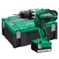 Hitachi DS14DJL(LE) Accuboormachine | 14,4 Volt Li-Ion 1.5 Ah | Systainer