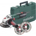 Metabo W 9-125 Quick Set Haakse slijper | 125mm | 900W | Quick |Koffer +2 diamantschijven