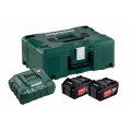 Metabo 685064000 - Basis set Basis Set | 2x Accu 18V 4,0Ah Li-Ion +Lader ASC 30-36 V +MetaLoc
