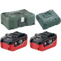 Metabo Basis set 2x LiHD 6.2 Ah Basis Set | 2x Accu 18V 6,2Ah LiHD +Lader ASC Ultra +MetaLoc