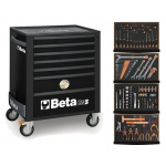 Beta C24S7/N Black+ 146-D Set Gereedschapswagen | 7 Laden | Black + Module set 146-Delig