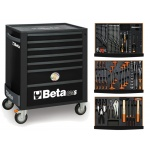 Beta C24S7/N Black+ 157-D Set Gereedschapswagen | 7 Laden | Black + Module set 157-Delig