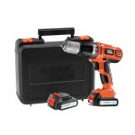 Black & Decker ASL148KB Accuboor | Li-Ion | 14,4 Volt | 1.5Ah | 10mm | 2x Accu | +Koffer