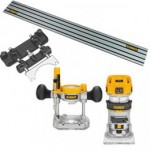 DeWALT D26204SET Bovenfrees en kantenfrees | 2-in-1 | 900W 6-8 mm | +Koffer +rail