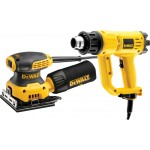 DeWALT DWE6411SET Vlak Schuurmachine | 230 Watt | 115 x 108 mm | +Heteluchtpistool