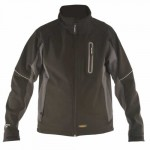 DeWALT workwear DWC39 Soft Shell Jas Soft Shell | Zwart | 100% polyester | reflecterende strips