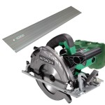 Hitachi C7UY(LF) in Koffer Cirkelzaagmachine | 1300 W | 190 mm | +Koffer en rail
