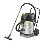 Karcher Professional NT 75/2 Ap Me Tc Nat-droogzuiger | 2760 Watt | 75 Liter | Eco filter | RVS