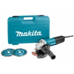 Makita 9558HNRGK2 Haakse slijper | 125 mm | 840 Watt | Diamant set