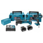 Makita DLX2117MJ Accuboor en Multitool | 14,4V Li-Ion 4.0 Ah | Lader + Mbox