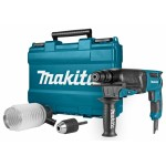 Makita HR2630X2 Combihamer | SDS-Plus | 800 Watt | 2,4 J | 26 mm |+Stofafzuigset