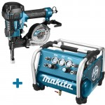 Makita DK1146 Startset 22 Bar Tacker + Compressor + Haspel + Trolley + Nagels