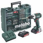 Metabo BS 18 LT Mobile Workshop Accu Boormachine | 18 Volt 2,0 Ah Li-Ion | 13 mm | +Koffer en Tb