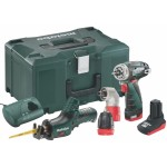 Metabo Powermaxx BS Basic + ASE Accu boormachine + reciprozaag | 10,8 Volt 2.0 Ah | +Metaloc