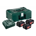 Metabo 685063000 - Basis set Basis Set | 3x Accu 18V 4,0Ah Li-Ion +Lader ASC 30-36 V +MetaLoc