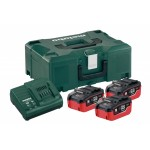 Metabo 685069000 -Basis set LiHD Basis Set |3x Accu 18V 5,5Ah LiHD +Lader ASC 30-36 V +MetaLoc