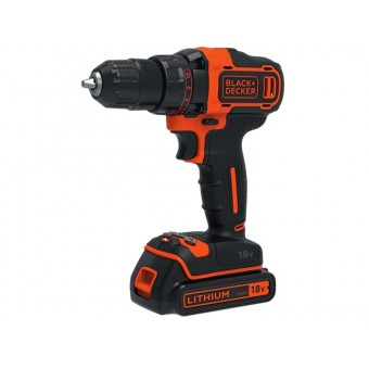 Black & Decker BDCDD186KB Accu schroef-/boormachine | 2x18V 1,5Ah Li-Ion | 1-10mm | Koffer