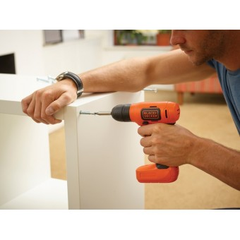 Black & Decker BDCD8K Accu Schroef-/boormachine | 7.2V 1,5 Ah Li-Ion | 1-10mm | Koffer