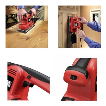Black & Decker KA274EKA Vlak schuurmachine | 115 mm | 310 Watt | Koffer