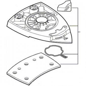 bosch schuurzool voor psm 18 li toolsxl online gereedschap shop makita dewalt. Black Bedroom Furniture Sets. Home Design Ideas