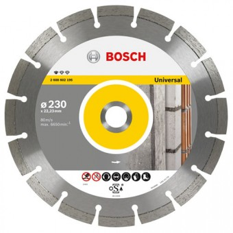 Bosch Accessoires 2.608.602.195 Diamantschijf | Professional for Universal | 230 x 22,23 mm