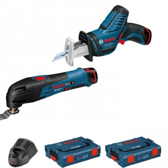 Bosch Pro GOP 12V-Li +GSA12V-Li Multitool + Reciprozaag | Click and Go | 12V 2,5Ah