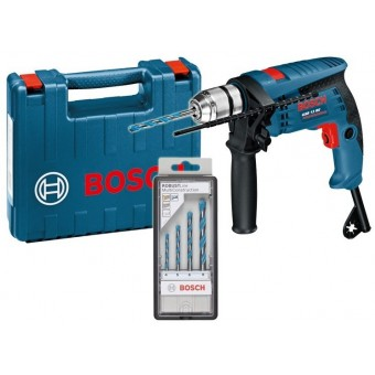 Bosch Pro GSB 13 RE + Borenset Klopboormachine | 13 mm Boorhouder | 600 Watt | +Koffer