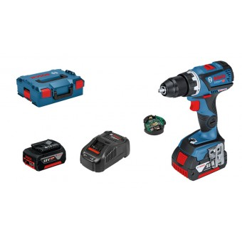 Bosch Pro GSR 18 V-60 C Connected Accuboor | 18V 5,0Ah Li-Ion | Connected | Borstelloos | L-Boxx