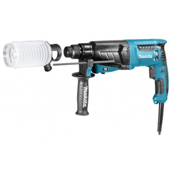 Makita HR2630J Combihamer | SDS-Plus | 800 Watt | 2,4 J | 26 mm |+Stofafzuigset
