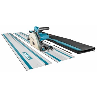 Makita SP6000J1X2 Invalzaag Cirkelzaag | 55 mm | 1300 Watt | M-Box +Tas +Rail (2x)