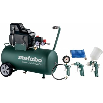 Metabo Basic 250-50 W OF + LPZ 4 Compressor | 50 L | 1500 Watt | 8 Bar | + LPZ 4