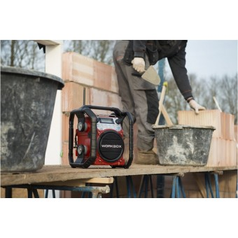 PerfectPro Workbox Bouw Radio | Bluetooth | Netstroom of Batterij | Oplaadbaar